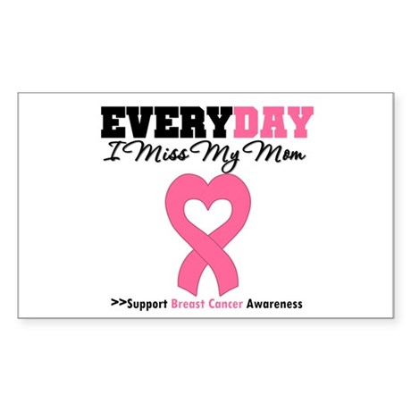 Breast Cancer Miss Mom Rectangle Sticker