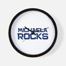 michaela rocks Wall Clock