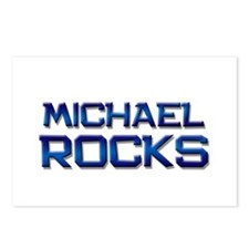 michael rocks Postcards (Package of 8)