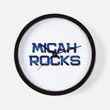 micah rocks Wall Clock