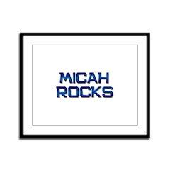 micah rocks Framed Panel Print