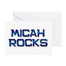 micah rocks Greeting Card