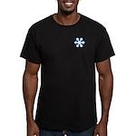 Flurry Snowflake IX Men's Fitted T-Shirt (dark)