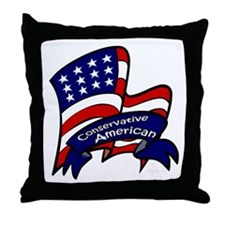 Conservative American Throw Pillow