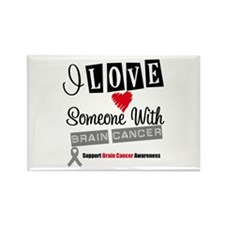 Brain Cancer Support Rectangle Magnet
