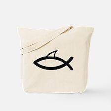 jesus symbol fun shark fin Tote Bag