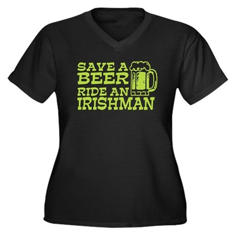 Save a Beer Ride an Irishman Women's Plus Size V-N