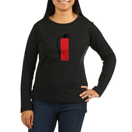 fire extinguisher Women's Long Sleeve Dark T-Shirt