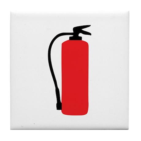 fire extinguisher Tile Coaster