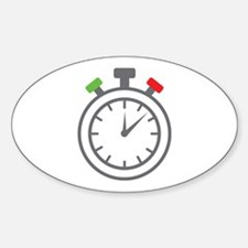 stop watch Oval Decal