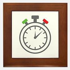 stop watch Framed Tile