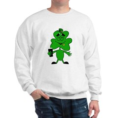 Irish shamrock funny Sweatshirt