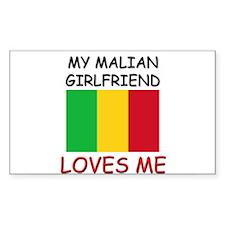 My Malian Girlfriend Loves Me Rectangle Decal