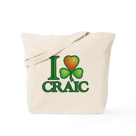 I Love Craic Tote Bag
