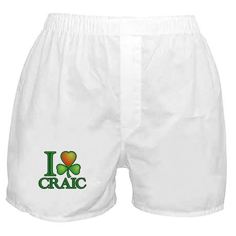 I Love Craic Boxer Shorts