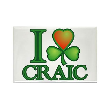 I Love Craic Rectangle Magnet (10 pack)