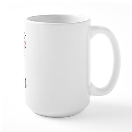 Pink Book Lover Large Mug