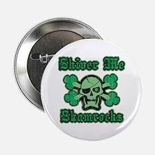 "Shamrock Green Pirate 2.25"" Button"
