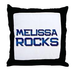 melissa rocks Throw Pillow