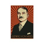 Ludwig von Mises Rectangle Magnet (10 pack)