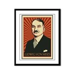 Ludwig von Mises Framed Panel Print