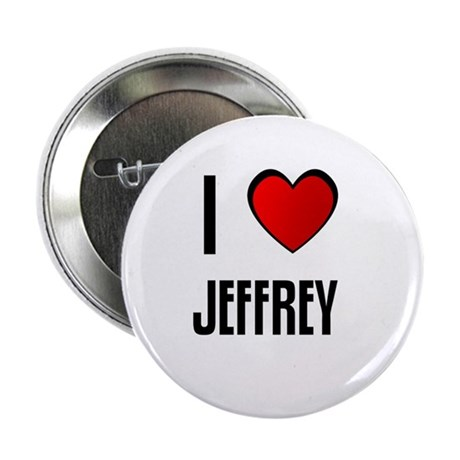 "I LOVE JEFFREY 2.25"" Button (10 pack)"