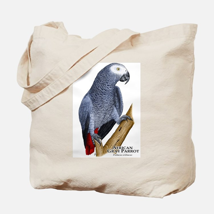 African Gray Parrot Tote Bag