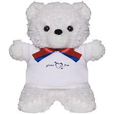 gluten free - hearts, denim Teddy Bear