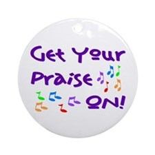 Christian Music Ornament (Round)