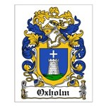Oxholm Coat of Arms Small Poster
