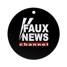 Faux News Ornament (Round)
