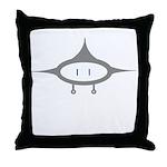 Grey UFO Throw Pillow