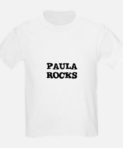 PAULA ROCKS Kids T-Shirt