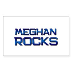 meghan rocks Rectangle Decal