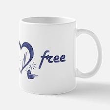 gluten free - hearts, denim Mug