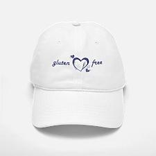 Gluten-Free - Hearts, Denim Baseball Baseball Cap