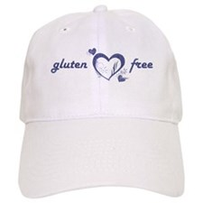 Gluten-Free - Hearts, Denim Baseball Cap