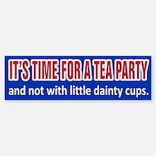 Tea Party Time Bumper Bumper Bumper Sticker