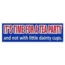 Tea Party Time Bumper Bumper Sticker