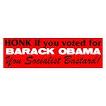 Honk If You Voted For Barack Sticker (Bumper 50 pk
