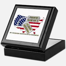 Proud Mom of 2 US Army Soldiers Keepsake Box