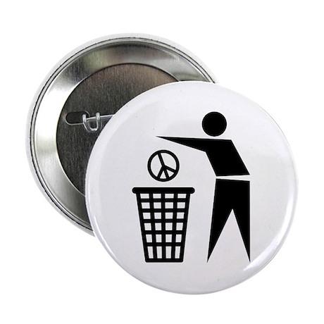 "Peace receptacle 2.25"" Button"
