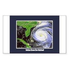 Hurricane Rectangle Decal