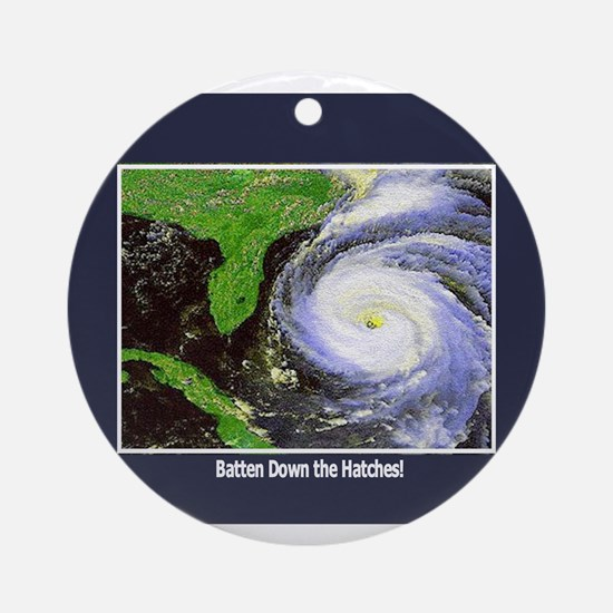 Hurricane Ornament (Round)