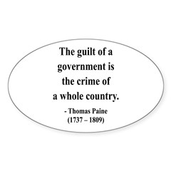 Thomas Paine 14 Oval Decal