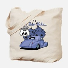Dice Route 66 Hot Rod Tote Bag