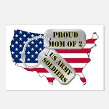 Proud Mom of 2 US Army Soldiers Postcards (Package