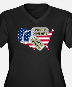 Proud Mom of 2 US Army Soldiers Women's Plus Size