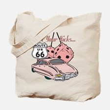 Pink Dice Rt 66 Classic Tote Bag