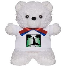 Haiti is Calling Green Teddy Bear